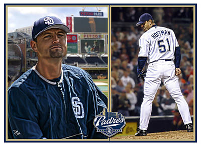 Digital Art - Trevor Hoffman by Don Olea