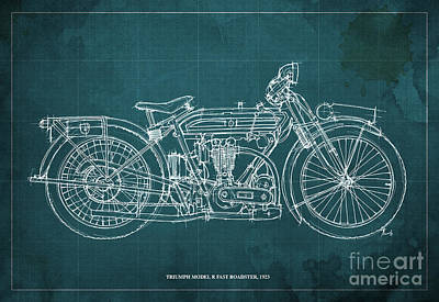 Easter Egg Stories For Children - Triumph Model R Fast Roadster 1923 by Drawspots Illustrations