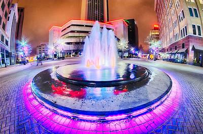 Photograph - Tulsa City Skyline Around Downtown Streets by Alex Grichenko