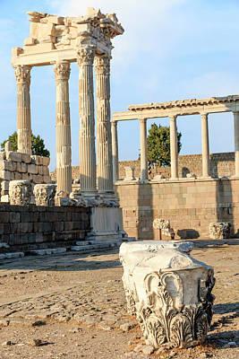 Acropolis Photograph - Turkey, Izmir Province, Bergama by Emily Wilson