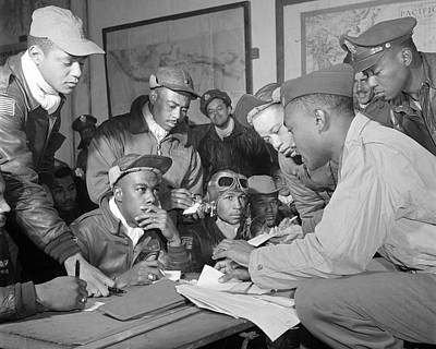 African-american Photograph - Tuskegee Airmen by Retro Images Archive