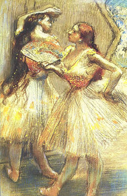 Degas Digital Art - Two Dancers by Edgar Degas