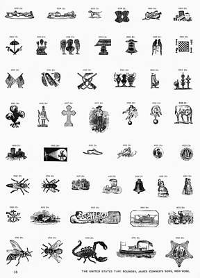 Type Foundry Designs Art Print by Granger