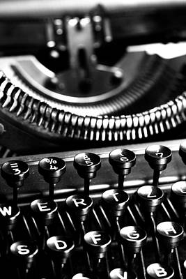 Typewriter Keys Photograph - Typewriter by Falko Follert