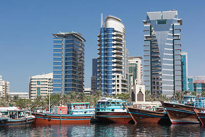 Dhow Photograph - Uae, Dubai, Deira by Walter Bibikow