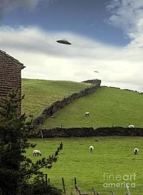 Digitally Manipulated Photograph - Ufo Sighting by Richard Kail