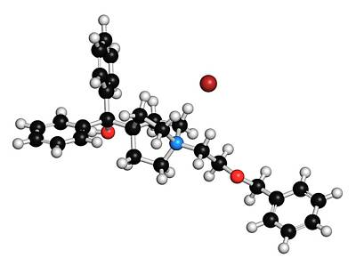 Umeclidinium Bromide Copd Drug Molecule Art Print
