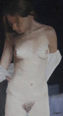 Painting - Undressing by Masami Iida