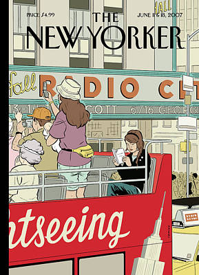 2007 Painting - New Yorker June 11th, 2007 by Adrian Tomine