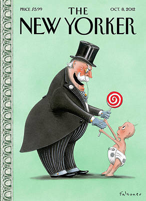 Babies Painting - New Yorker October 8th, 2012 by Ian Falconer