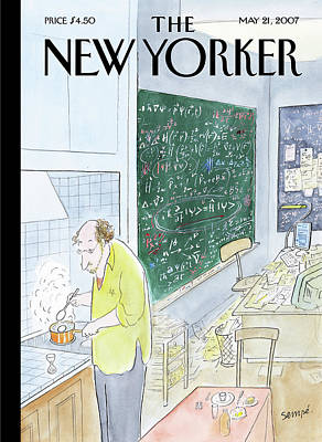Cooking Painting - New Yorker May 21st, 2007 by Jean-Jacques Sempe