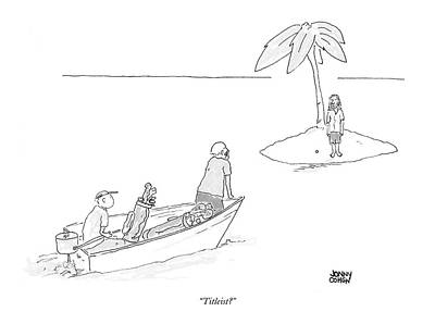 Island Drawing - Titleist? by Jonny Cohen