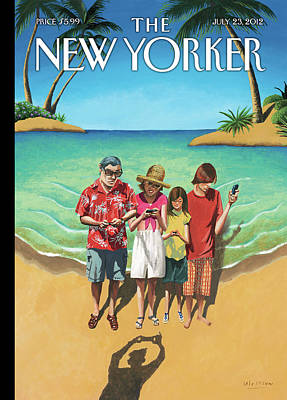 Phone Painting - New Yorker July 23rd, 2012 by Mark Ulriksen