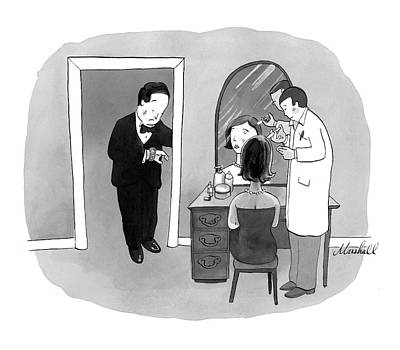 Marshall Hopkins Drawing - New Yorker September 24th, 2007 by Marshall Hopkins