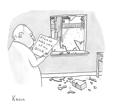 Zachary-kanin Drawing - New Yorker March 3rd, 2008 by Zachary Kanin