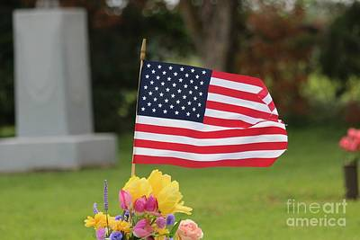 Photograph - Us Flag On Memorial Day by Robert D  Brozek