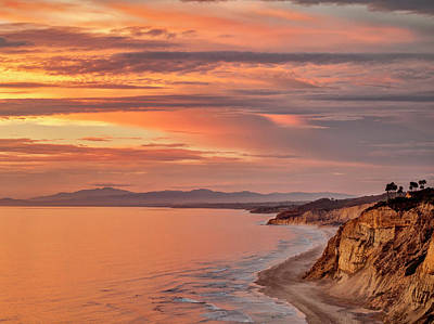 Usa, California, La Jolla, Sunset Art Print