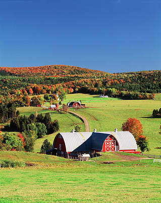 Clear Sky Photograph - Usa, Vermont, Northeast Kingdom by Walter Bibikow
