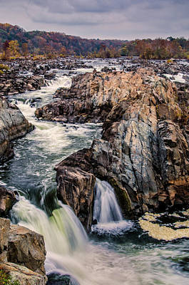 Stormy Tree Photograph - Usa, Virginia, Great Falls Park by Jaynes Gallery