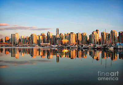 Photograph - Vancouver Sunset by JR Photography