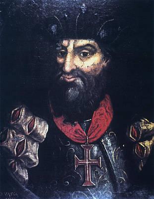 Crucifix Painting - Vasco Da Gama (1469?-1524) by Granger