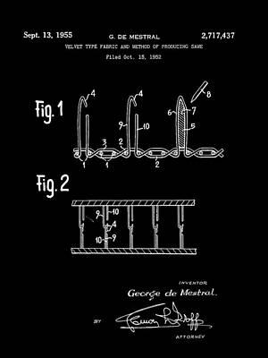 Velcro Patent 1952 - Black Art Print by Stephen Younts