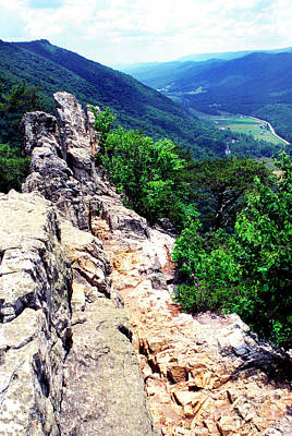 View From Atop Seneca Rocks Print by Thomas R Fletcher