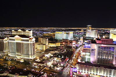 View From Eiffel Tower In Las Vegas - 01132 Art Print by DC Photographer
