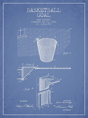 Hoops Digital Art - Vintage Basketball Goal Patent From 1925 by Aged Pixel