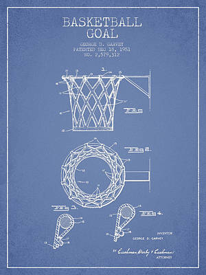 Vintage Basketball Goal Patent From 1951 Art Print