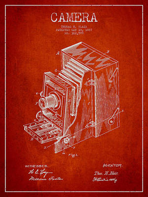 Vintage Camera Wall Art - Digital Art - Vintage Camera Patent Drawing From 1887 by Aged Pixel