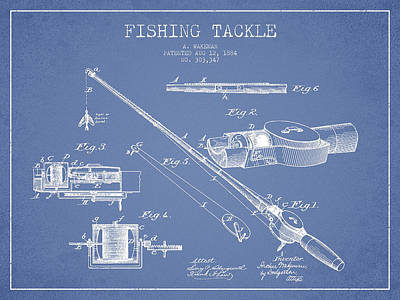 Garden Fruits - Vintage Fishing Tackle Patent Drawing from 1884 by Aged Pixel