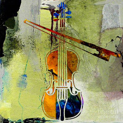 Violin And Bow Art Print