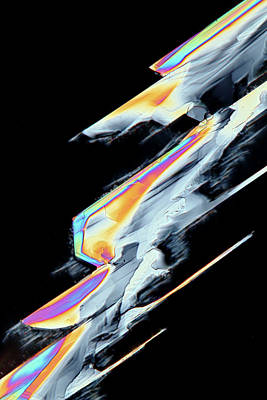 Vitamin C Birefringence Art Print by Karl Gaff