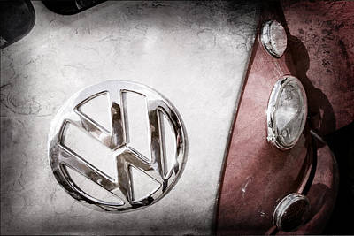 Bus Photograph - Volkswagen Vw Bus Emblem by Jill Reger