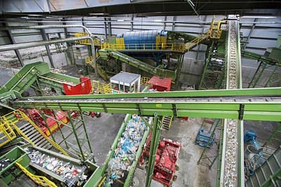 Waste Photograph - Waste Sorting At A Recycling Centre by Peter Menzel
