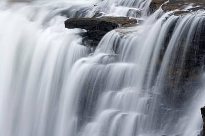Photograph - Waterfall by Byron Jorjorian