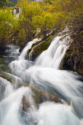 Photograph - Waterfall by Ng Hock How