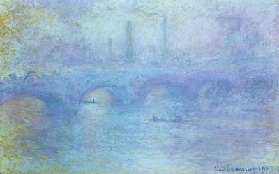 Hue Painting - Waterloo Bridge by Claude Monet