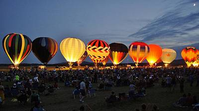 Wausau Hot Air Balloon Festival Art Print by Carol Toepke