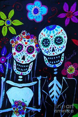 Wedding Dia De Los Muertos Art Print