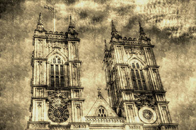 Little Mosters - Westminster Abbey London Vintage by David Pyatt