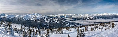 Mountain Royalty-Free and Rights-Managed Images - Whistler mountain peak view from Blackcomb by Pierre Leclerc Photography
