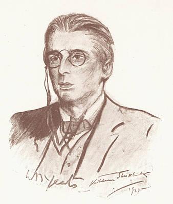 Kathleen Drawing - William Butler Yeats (1865-1939) by Granger