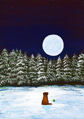 Fine Dining - Winter Moon by Todd Young