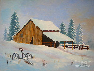 Painting - Winter  Rest  by Shasta Eone