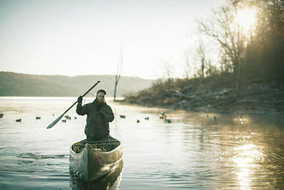 Winter Waterfowl Hunt On Truman Luke Art Print