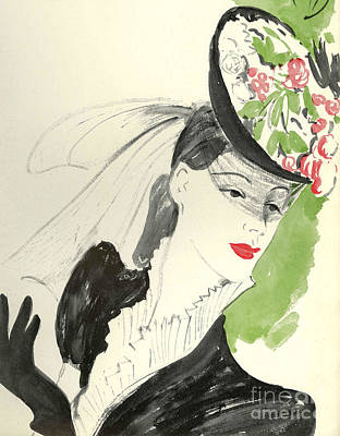 Women�s Fashion 1930s 1939 1930s Uk Art Print by The Advertising Archives