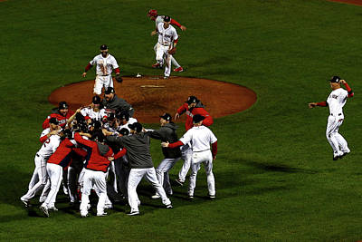 Photograph - World Series - St Louis Cardinals V by Jamie Squire