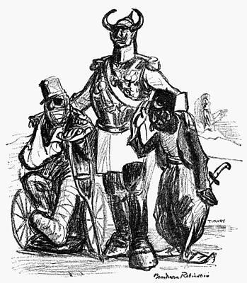 Cripple Painting - World War I Cartoon, 1915 by Granger